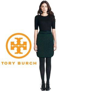 Tory Burch AMES Silk Trimmed Pencil Skirt Size 4